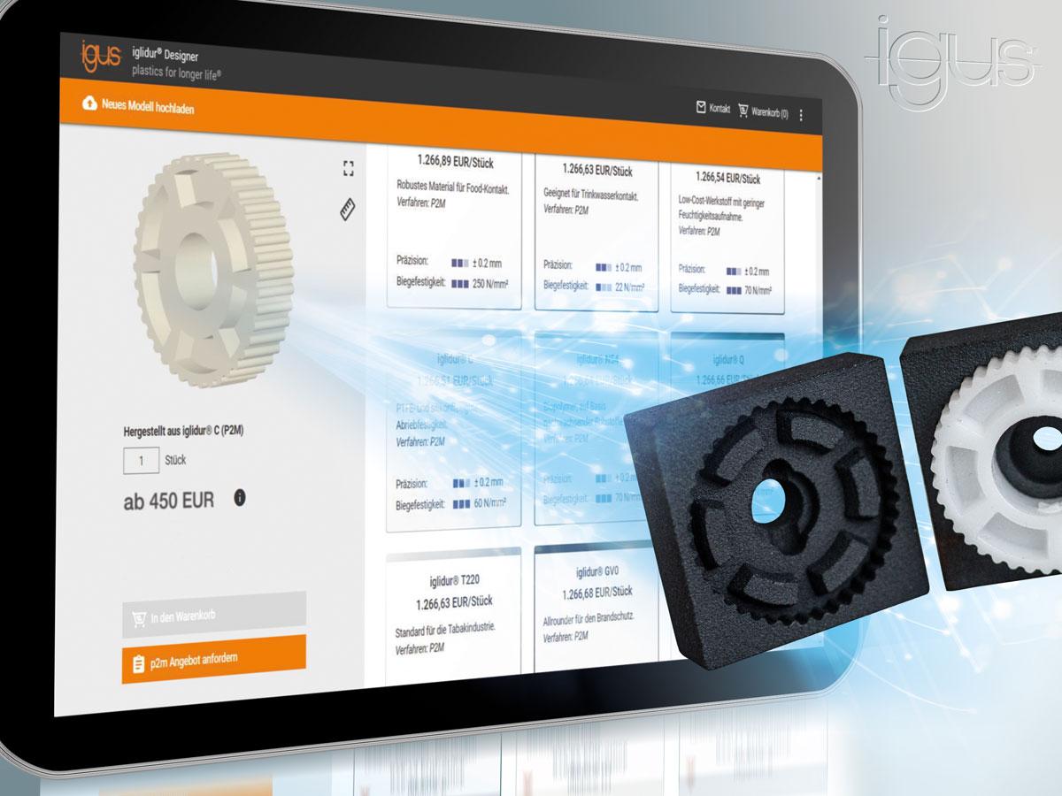 Lebensdauer von 3D-gedruckten Gleitlagern online berechnen