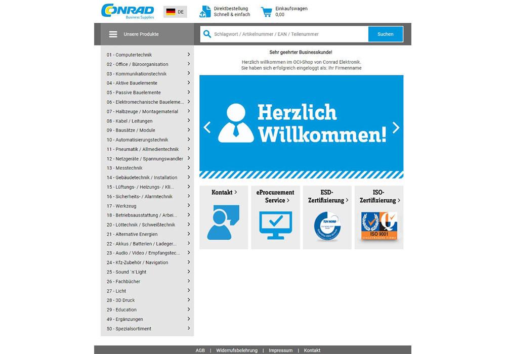 Conrad Business Supplies optimiert direkte Webshopanbindung