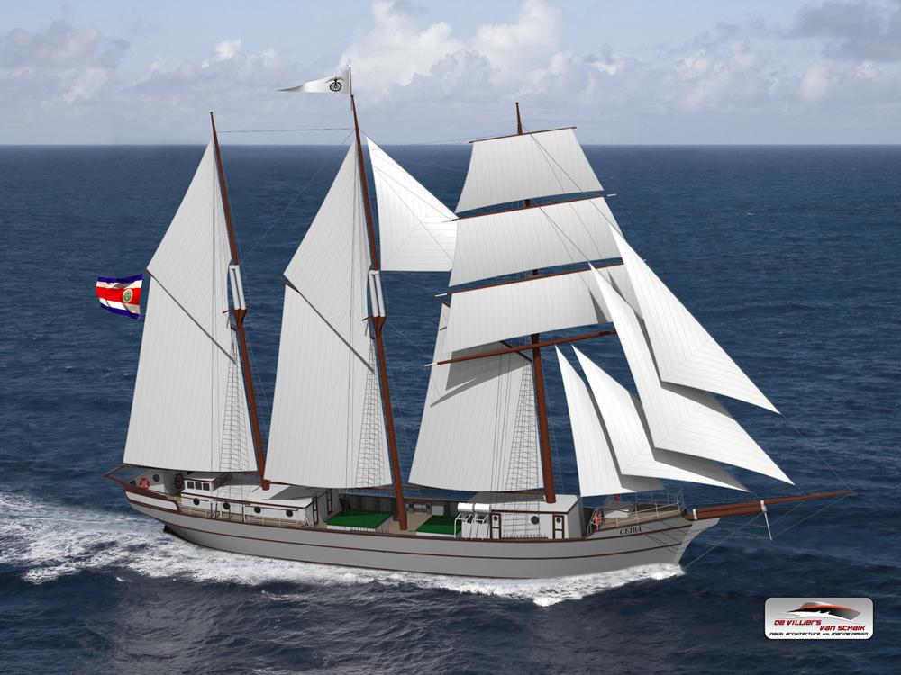 Ceiba: Frachtsegler will Container klimaneutral befördern