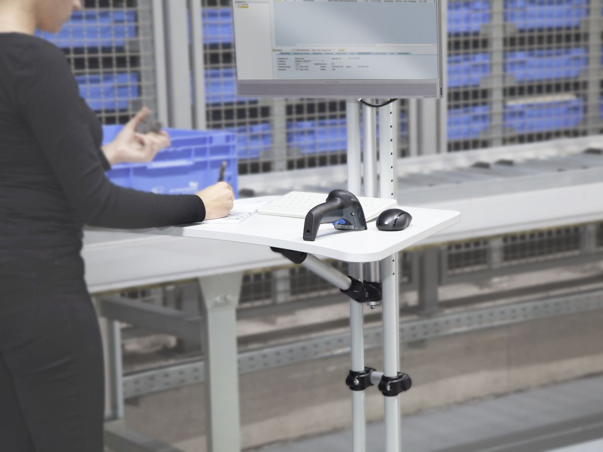 Höhenverstellbarer Monitorständer für mehr Ergonomie